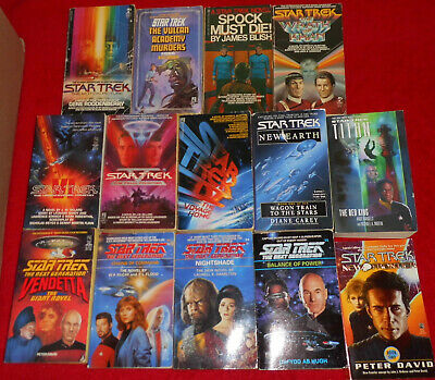 14 STAR TREK Epic Book Collection LOT Classic Vintage Spock Vulcan Wrath of Kahn
