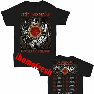 Whitesnake-Shirt-The-Flesh-and-Blood-Tour-Dates 2019 neu Männer T-Shirt