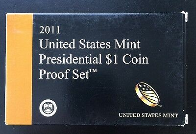 2011 U.S. Mint Presidential 1$ Dollar Coin Proof Set Complete With Box & COA