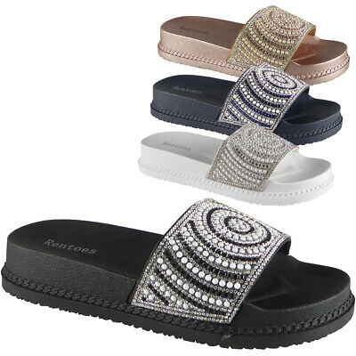 885d86c5dd ... Wedge Comfort Sandals Cushioned Flip Flops Footbed Shoes Size.