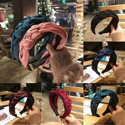 Women's Headband Alice Band Top Knot Fashion plain Headband Cute Twist Hairband