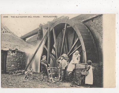 The Old Manor Mill House Woolacombe Devon 1908 Postcard 526b