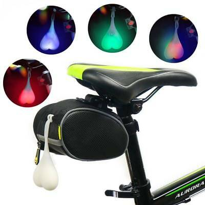 Silicone Bike Bicycle Back Rear Tail Cycling LED Light Heart Ball Egg Safe Lamp