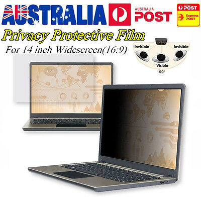 "14"" 16:9 Privacy Screen Protector Film Filter For Laptop Monitor/Notebook AU V6"