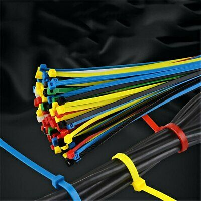 100pcs Cable Ties Self Locking Zip Tie Cable Winder Clips Wire Binding Straps UK