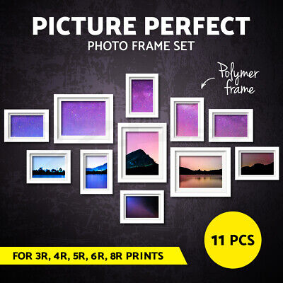 11 PCS Photo Frame Set Collage Picture Frames Wall Home Decor Gift Present White