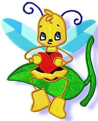BONNIE BEE  10 MACHINE EMBROIDERY DESIGNS CD or USB