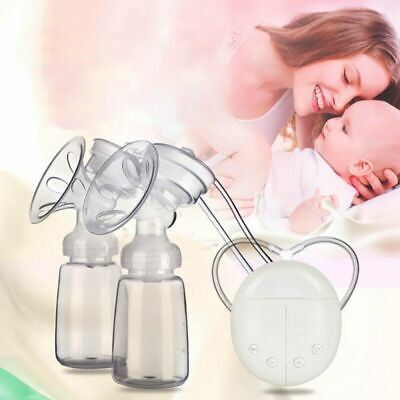 Electric Dual Breast Pump Automatic Double Intelligent Handfree Baby Feeder USB