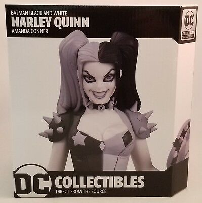 "DC Collectibles Harley Quinn Black and White 7"" Statue By Amanda Conner ~NEW~"