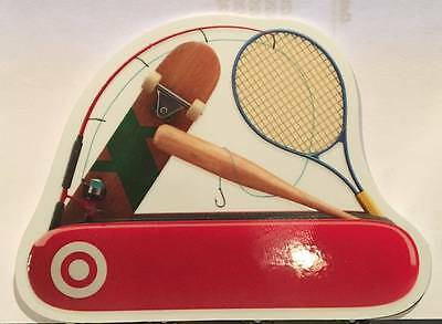 Target Swiss Army Knife Sports Tennis Fishing Die-Cut 2015 Gift Card 790-01-2254