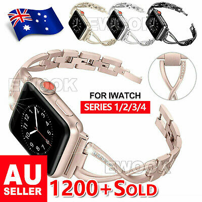 Stainless Steel Bracelet iWatch Band Strap For Apple Watch Series 4 3 2 1 40/44