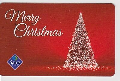 Sam's Club Merry Chistmas Tree Brightly Lit Sparkling 2014 Gift Card FD-43517