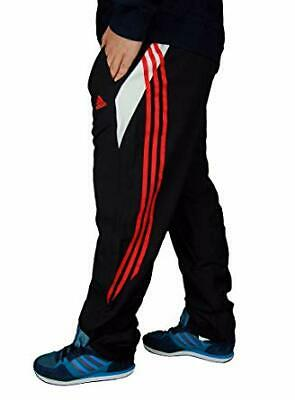 BNWT Adidas Saber track suit pants bottoms childs kids boys girls black 26 waist