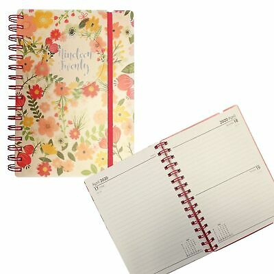 3883 Academic 2019 2020 PVC Cover Day a Page Student Diary - A5 Flowers