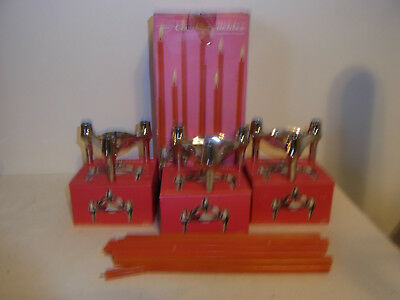 3 Mid Century 60´s Stacking Candle Holder BMF in Box #<2