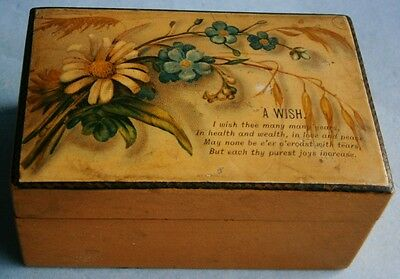 Decorative antique trinket box with floral motif from the early 1900s