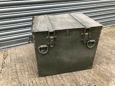 British Army Vintage Insulated Heavy Duty Steel Hay Hot Food Box Chest GR8 Table