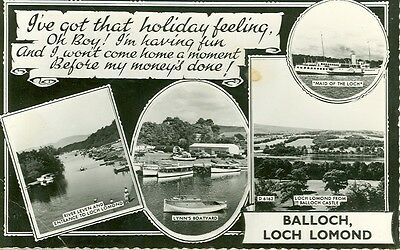 Balloch, Scotland-Multi-View-Real Photo-Loch Lomond-1953-(Mv-33)