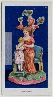 "1700s ""Pastime"" Staffordshire Glazed  Earthenware Pottery 1920s  Ad Trade Card"