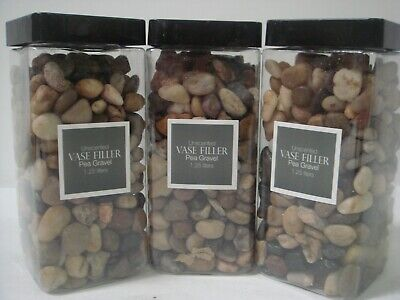 Unscented Vase Filler Pea Gravel, 11 lbs., 3.75 Liters, Craft Decor