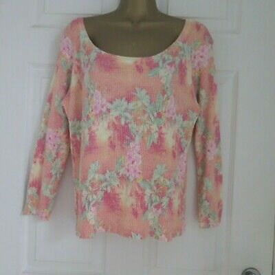 0eab38281 LADIES PER UNA MARKS & SPENCER MADE IN ITALY PEACH JUMPER TOP size LARGE 14  16