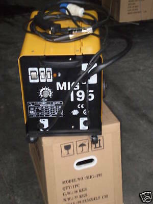 Mig 195 Gas Or No Gasless Flux Solid Wire Feed Mig Weld Welder Welding Machine