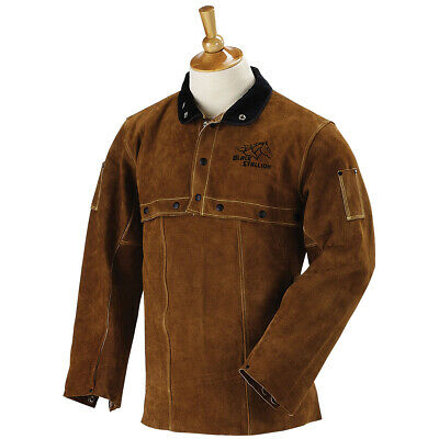 """Revco 220CS Leather Welding Cowhide Cape Sleeves and 20"""" Bib Combo Size Medium"""