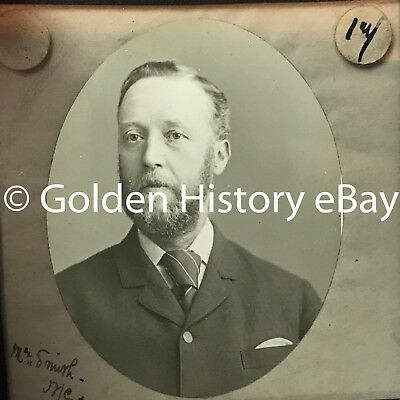 ANTIQUE Mr SMITH NORTH EAST SHIELDS  REAL PHOTOGRAPH SLIDE GLASS