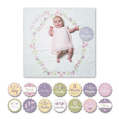 Lulujo - Baby's 1st Year Isn't She Lovely Blanket & Cards Set