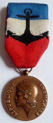 Médaille d'Honneur Marine Nationale BRONZE attribuée 1990 ORIGINAL French medal