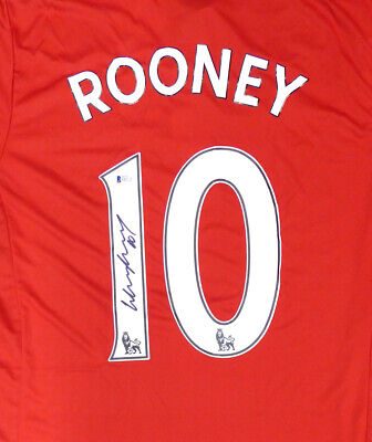 5d2c8434946 Wayne Rooney Autographed Manchester United Adidas Authentic Jersey Beckett  41442