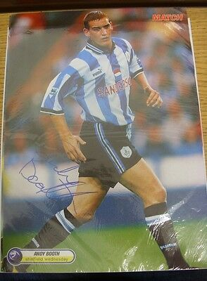 1990/2000's Autograph: Sheffield Wednesday - Booth, Andy [Hand Signed Colour Mag