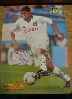 1990/2000's Autograph: Coventry City - Hall, Marcus (away kit) [Hand Signed Colo