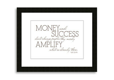 Will Smith Money And Success Beige  09730 Framed Print