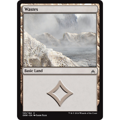 MTG OATH OF THE GATEWATCH Wastes Extended Art #183