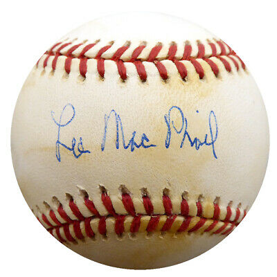 Lee Mac Phail Autographed Signed Official AL Baseball President Beckett #F27096