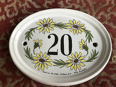 1980s handpainted ceramic house sign from rye in sussex .number 20