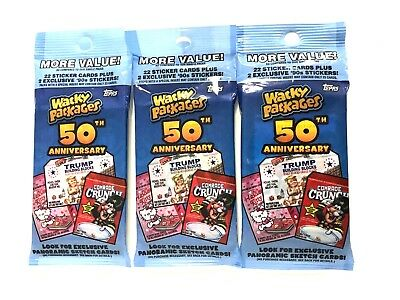 2017 Topps Wacky Packages 50Th Anniversary  Value Packs ( 3 Pack Lot )