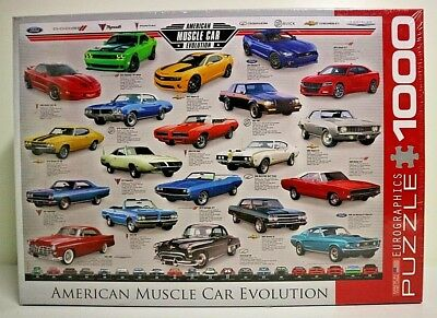 "PUZZLE  1000 pieces .(neuf) "" CAR EVOLUTION / AMERICAN MUSCLE """