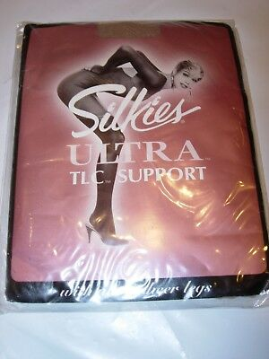 WOMENS 050320 Silkies DARK GREEN SHEER OPAQUE Pantyhose NYLONS STOCKINGS SIZE L
