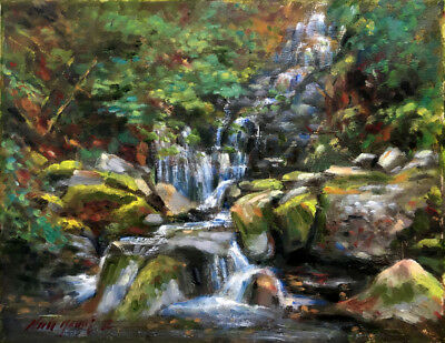 Torc Waterfall Ring of Kerry Ireland  11x14 in. Oil on canvas  HALL GROAT II