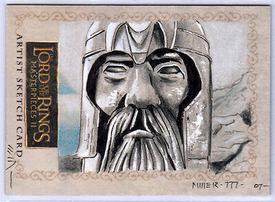 LOTR  - Lord of the Rings - MASTERPIECES 2 II SKETCH - ARGONATH by STEVEN MILLER