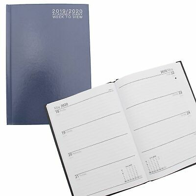 3195 Academic 2019 2020 Hardback Week To View Student Diary - A5 Navy