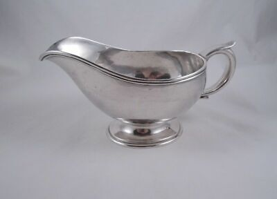 James Wooley Arts & Crafts Sterling Massive Sauce Gravy Boat Beautiful Hammering