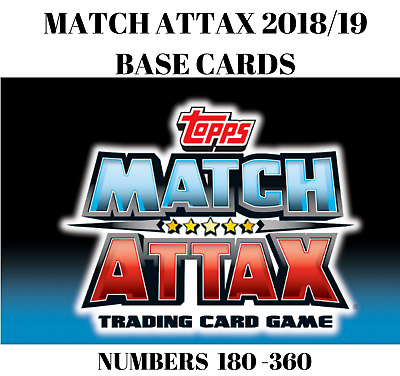 Match Attax 2018/19 18/19 Base Cards #180-360 Buy Any 2 Get 3 Free! Liverpool,..