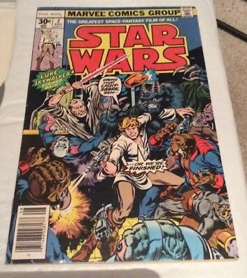 1977 Marvel Star Wars Comic #2 Very Good