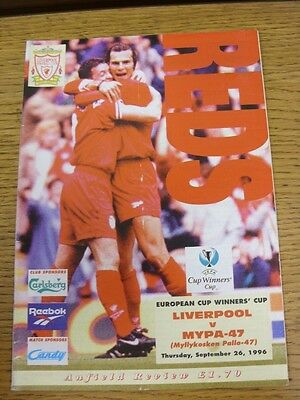 26/09/1996 Liverpool v Mypa-47 [European Cup Winners Cup] (Crease, Fold). Good c