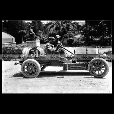 #pha.016795 Photo BERRA DE DION TARGA FLORIO RACE 1913 Car Auto
