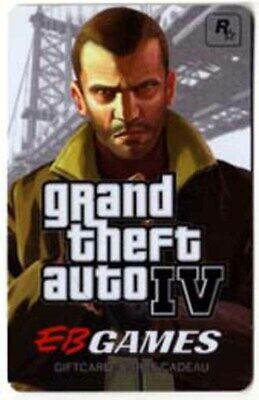 EB Games GRAND THEFT AUTO IV collectors gift card