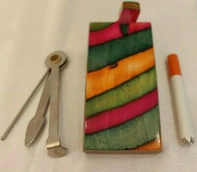 Rainbow Dugout One Hitter With Grinder Bat   Pipe Cleaning Tool   Small Pipe Set